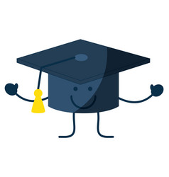 Happy graduation cap icon vector