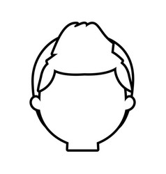 Head man male thin line vector