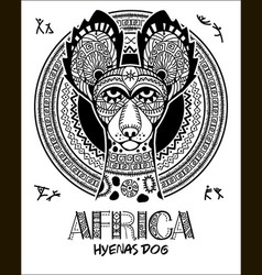image dog in the african style african vector image