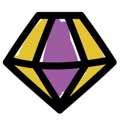 Isolated diamond gem icon design vector