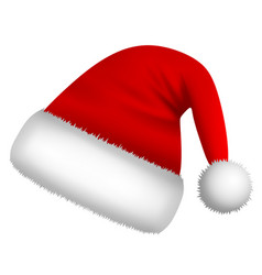 isolated santa claus hat vector image
