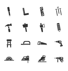 Joinery icon set vector