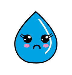 Kawaii nice surprised drop water vector