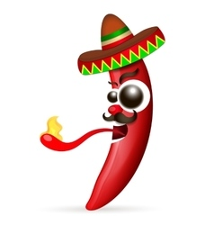 Mexican red hot chili pepper vector image