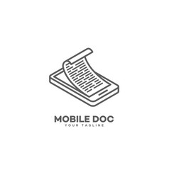 mobile doc logo vector image