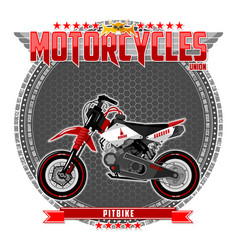 Motorcycle a certain type vector