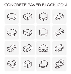 paver block floor vector image