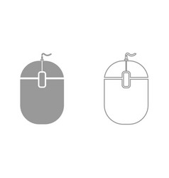 pc mouse it is black icon vector image