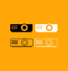 projector set black and white icon vector image