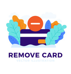 Remove credit card stock isolated on a white vector