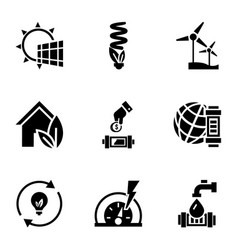 renewable energy icon set simple style vector image