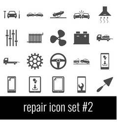 repair icon set 2 gray icons on white background vector image