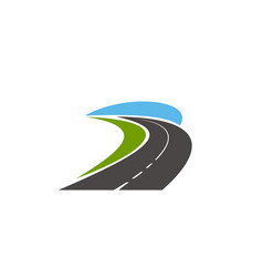 road pathway highway icons speed drive track vector image