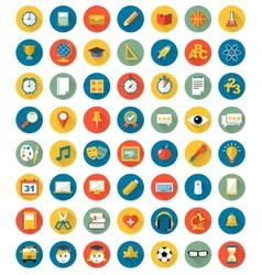 School icons flat design set vector