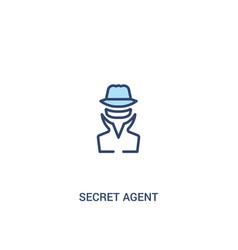 Secret agent concept 2 colored icon simple line vector