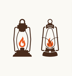 set of lamps for logo vector image