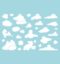 set white clouds on a blue background vector image