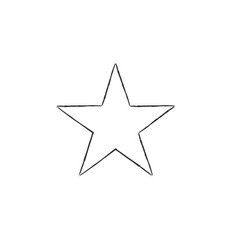 Star doodle icon hand drawn star stock isolated vector