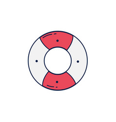 Summer lifeguard float detailed style vector