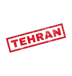 Tehran Rubber Stamp vector