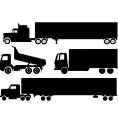 trucks collection vector image