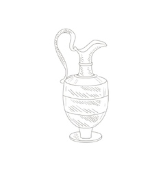 Vintage Wine Jug Hand Drawn Realistic Sketch vector