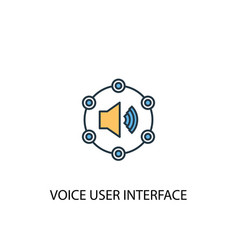 voice user interface concept 2 colored line icon vector image