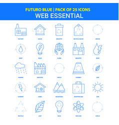 Web essential icons - futuro blue 25 icon pack vector