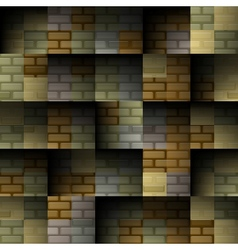 Abstract brick seamless background vector image vector image