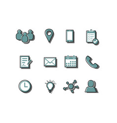 business icon sets color vector image vector image