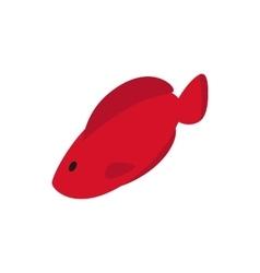 Hemichromis fish icon isometric 3d style vector image vector image