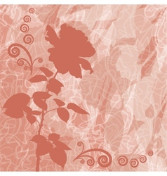 Holiday background with flower rose silhouette vector image vector image