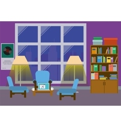 Home Interior With Large Window vector image vector image