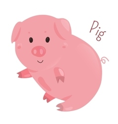 Pig Sticker for kids Child fun icon vector image vector image