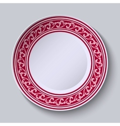 The circular red pattern with empty space in the vector image vector image