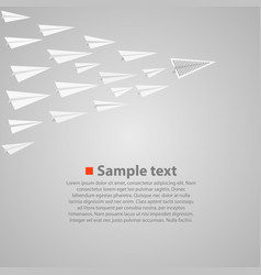 vrowd of paper airplanes with a leader vector image