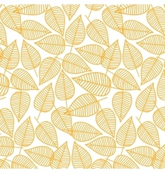Autumn pattern from leaves vector image