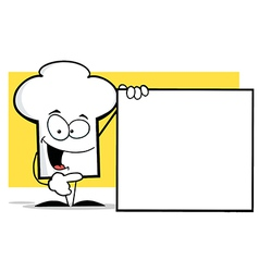 Chef Hat Guy With A Blank Sign vector image vector image
