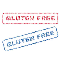 Gluten free textile stamps vector