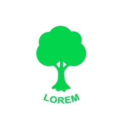 Green tree logo design template Plant vector image