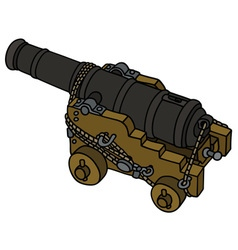 Historic naval cannon vector image vector image
