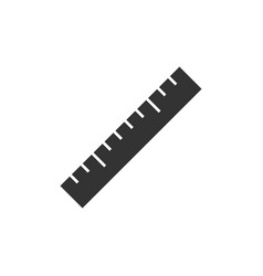 ruler black icon vector image vector image