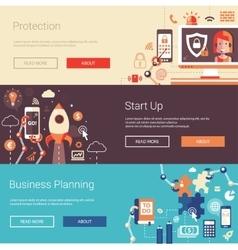 Set of modern flat design business banners vector image vector image