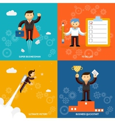 Set of businessman characters vector image vector image