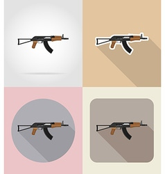 Weapon flat icons 01 vector