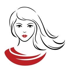 Linear portrait vector image