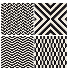 pattern background set retro vintage design vector image vector image