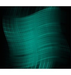 Abstract dark green elegant background with waves vector