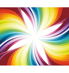 abstract flowing rainbow vector image