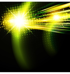 Abstract green disco background vector